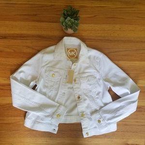 Michael Kors White Denim Jacket - S - NWT